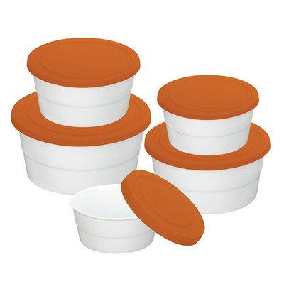 Danico Imperial Silicon Lid Porcelain Food Container Set