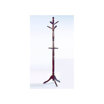 Homelegance 5322 - Deluxe Hall Tree with Umbrella Rack Natural