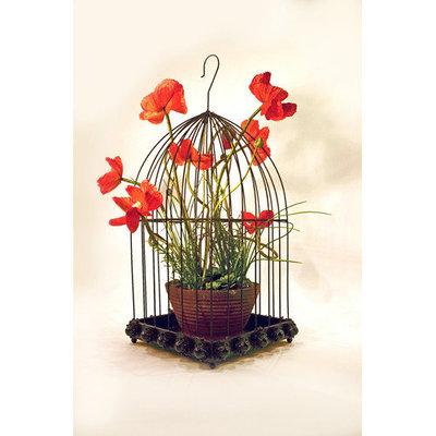Metrotex Designs Wild Rose Design Bird Cage with Hook