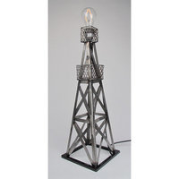 Metrotex Designs 29568 Steel Handmade Oil Derrick Lamp-Pewter Powder Coat Finish