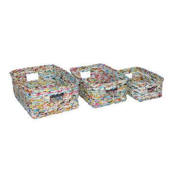 Screen Gems Recycle Wastebin (Set of 3)