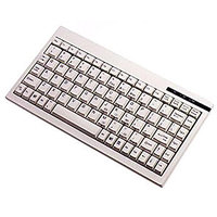 Adesso Mini Keyboard ACK-595 - PS/2 - QWERTY - 89 Keys - White