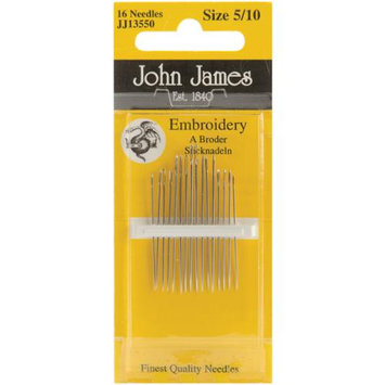 Colonial Needle 72152 Crewel-Embroidery Hand Needles-Size 5-10 16-Pkg