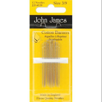 Colonial Needle 72155 Cotton Darners Hand Needles-Size 3-9 12-Pkg