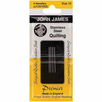 Colonial Needle JJ120-SS-10 Stainless Steel Quilting Needles-Size 10 4/Pkg