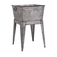 Imax Corporation Imax 65345 Perryman Galvanized Tub On Stand
