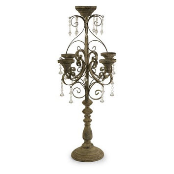 IMAX Corporation Tracy Candle Chandelier Tabletop Candelabra
