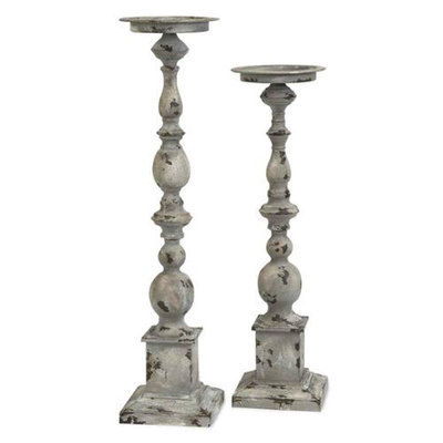 Home Decor Improvements 74182-2 Hamilton Candle Holders - Set of 2