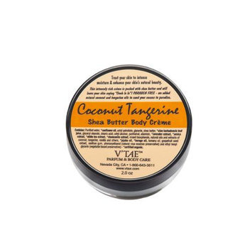 Coconut Tangerine Shea Butter Body Creme V'TAE Parfum and Body Care 2 oz Cream