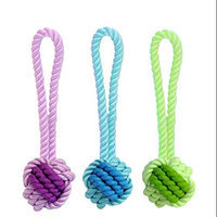 MultiPet Nuts For Knots Rope And Rubber Ball With Tug