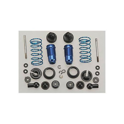 Associated Electrics, Inc. 21216 FT Front Alum Shock Kit Blue RC18T ASCC2126