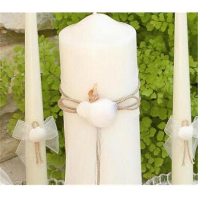 Beverly Clark 110TI Seashore Taper Candles - Ivory Only