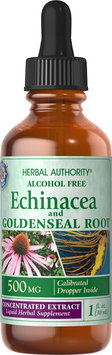 Herbal Authority - Echinacea Goldenseal Alcohol Free - 1 oz. Formerly called Good 'N Natural