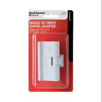 Pass & Seymour Plug In One To Three Outlet Swivel Adaptor, Single Pole Three Wire, White