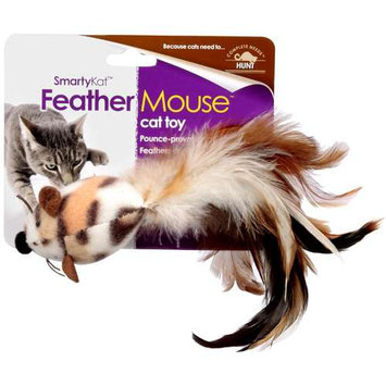 E & B Giftware Worldwise 39385 SmartyKat FeatherMouse Feathery Cat Toy