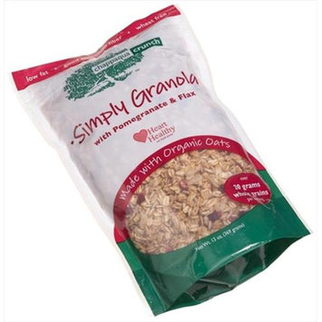 Chappaqua Crunch Simply Granola with Pomegranate & Flax, 13 oz Pouches, 6 pk
