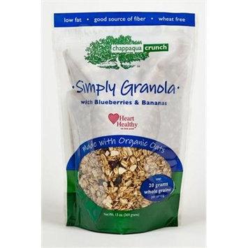 Chappaqua Crunch Granola Chappaqua Crunch Simply Granola with Blueberries & Bananas, 13 oz Pouches