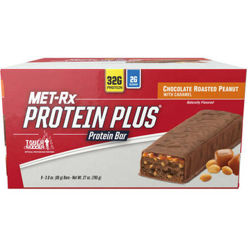 Met-RX Protein Plus Replacement Bar Chocolate Roasted Peanuts with Caramel, 9 Ct