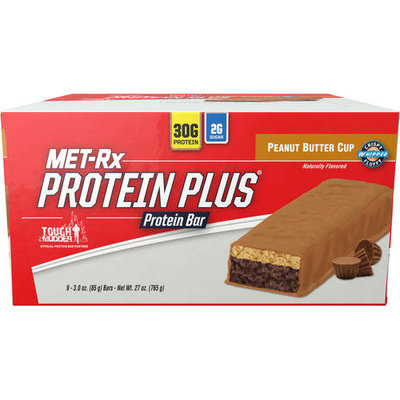 MET-Rx Protein Plus Peanut Butter Cup Protein Bars, 3.0 oz, 9 count