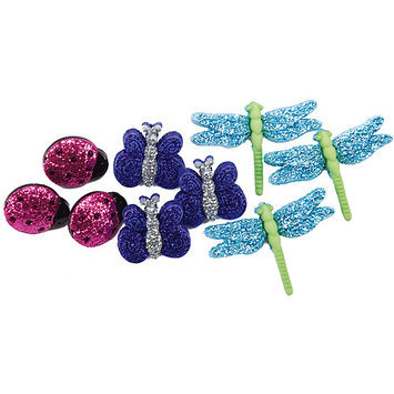 Jesse James DIUFLATS-5964 Dress It Up Flats Embellishments-Brilliant Blooms - Turquoise 3-Pkg
