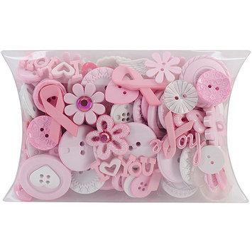 Jesse James DIUB7969 Dress It Up Buttons Grab Bag-Breast Cancer Awareness