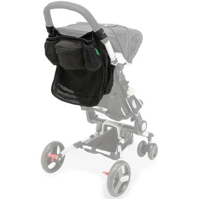 QuickSmart B09621USA Easy Fold Stroller Caddy - Black
