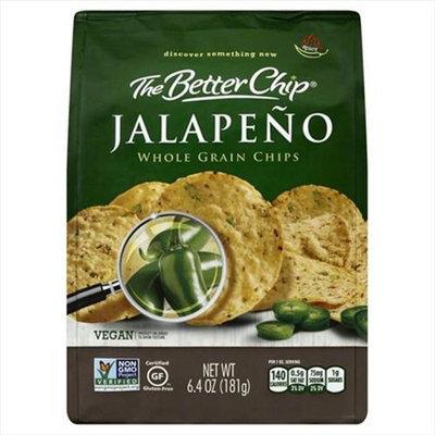 The Better Chip 6.4 oz. Jalapenos Whole Grain Chip - Case Of 12