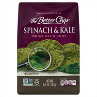 The Better Chip 6.4 oz. Spinach & Kale Whole Grain Chips - Case Of 12
