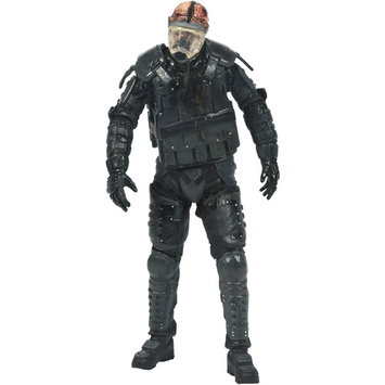 McFarlane Toys The Walking Dead TV Series 4 Riot Gear Gas Mask Zombie Action Figure