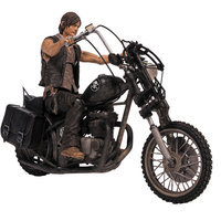 Mcfarlane Toys Walking Dead Daryl Dixon Figure & Motorcycle Deluxe Box Set
