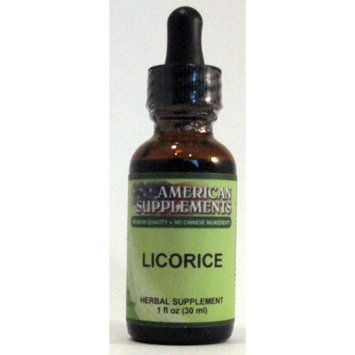 Licorice No Chinese Ingredients American Supplements 1 oz Liquid