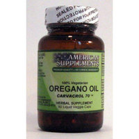 Oregano Oil No Chinese Ingredients American Supplements 60 VCaps