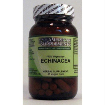 Echinacea Organic 420 mg No Chinese Ingredients American Supplements 90 VCaps