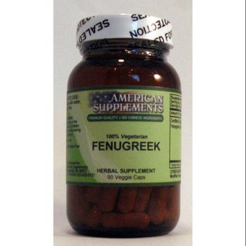 Fenugreek No Chinese Ingredients American Supplements 90 VCaps