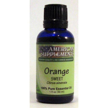 Orange (Sweet) Essential Oil No Chinese Ingredients American Supplements 1 oz Oi