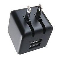 Ever Win AC11116B Universal Two USB Port Travel Charger - Black