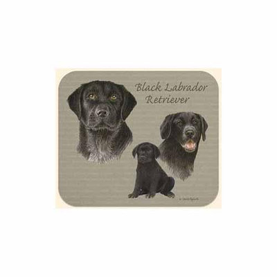 The Toy Works, Inc Dba Fiddlers Elbow Black Lab Mouse Pad by Fiddler's Elbow - M83FE