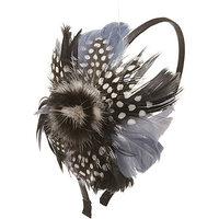 Magid Multicolored Feather Headband Black - Magid Hair Accessories