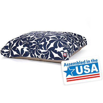 Majestic Home Goods Inc Majestic Home Goods Plantation Rectangle Pet Bed Navy Blue, Large