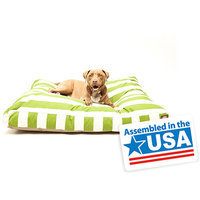 Majestic Pet Products, Inc. Majestic Pet Sage Vertical Stripe Rectangle Pet Bed