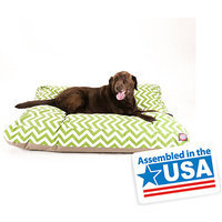 Majestic Home Goods Inc Majestic Home Goods Zig Zag Rectangle Pet Bed Sage, Medium