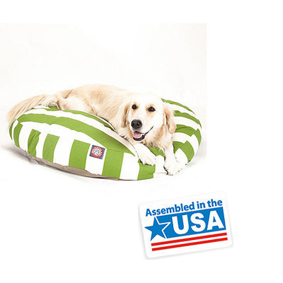 Majestic Pet Products, Inc. Majestic Pet Sage Vertical Stripe Round Pet Bed
