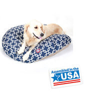 Majestic Pet Products, Inc. Majestic Pet Navy Blue Links Round Pet Bed