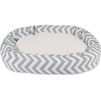 Majestic Pet Products, Inc. Chevron Sherpa Bagel Bed Size: Extra Large - 52