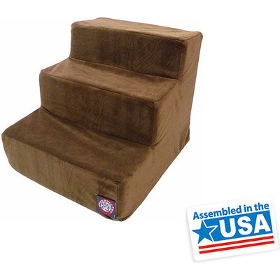 Majestic Pet Products, Inc. Majestic Pet 3 Step Suede Dog Stairs Stone