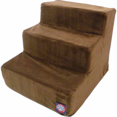 Majestic Pet Products, Inc. Majestic Pet 3 Step Suede Dog Stairs Chocolate