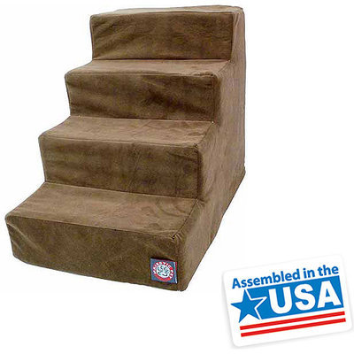 Majestic Pet Products, Inc. Majestic Pet 4 Step Suede Dog Stairs Stone