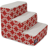 Majestic Pet Products, Inc. Links 3 Step Pet Stair Color: Red