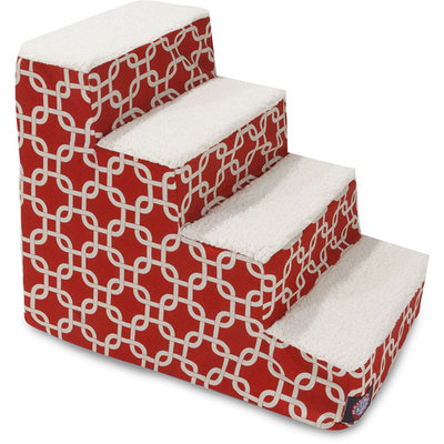 Majestic Pet Products, Inc. Links 4 Step Pet Stair Color: Red