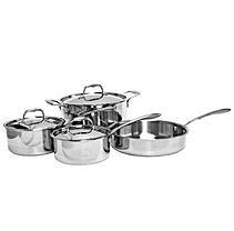 Excellante Tri-Ply Cookware: 7 pieces set, Sauce Pan w/ Lid, 1.5qt, Sa